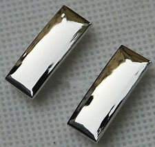 WW2 PAIR OF US ARMY FIRST LIEUTENANT OFFICER RANK INSIGNIA MILITARY BADGE SILVER