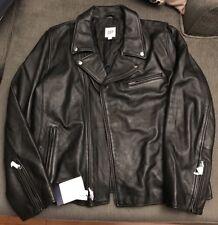 GAP LEATHER BIKER JACKET BLACK Sz XL motorcycle Moto Racer NOT John Elliott GQ