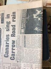 M5-3 Ephemera 1967 Football Report Norwich 2 Middlesborough 1 Anderson