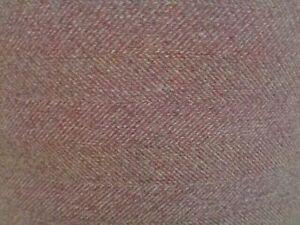 40cm square Isles Harris Hunter Rosso Herringbone Tweed Wool Touch Fabric