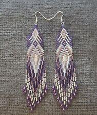 Long Native American style Beaded Earrings
