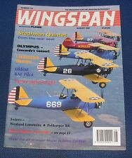 WINGSPAN MAGAZINE AUGUST 1995 - STEARMAN QUINTET FROM THE REAR SEAT