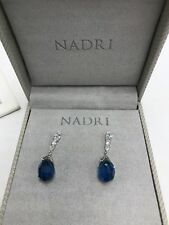 $75  Nadri Gifting Briolette Montana blue  earrings  ND9