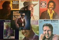 LOT of 7 x MARTY ROBBINS Country Music Vinyl LPs / El Paso Devil Woman VG+ & NM