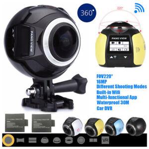 4K WIFI 360° Panoramic Sports Action Camera 16MP Video DVR Waterproof XDV360-V1