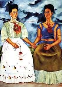 Frida Kahlo - Both Frida - A3 size 29.7x42cm QUALITY Art Canvas Print Unframed