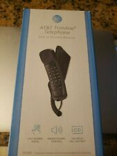 AT&T Trimline Corded Telephone Caller ID Call Waiting Black New Free Shipping
