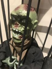Halloween 1 X Animated  Zombie In Cage  - Great Fun Prop New