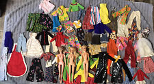 Huge Mix Lot Vintage Barbie Clone Doll Handmade Clothes Mod Pleather Bell Pants
