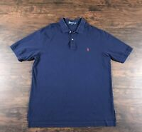 Polo Ralph Lauren Polo Shirt Men's Size 2XLT 2X Tall Blue With Red Pony Logo