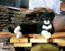 Kosen Little Cat Fini Black/White Lying 5470 Plush Stuffed Animal Gift Germany