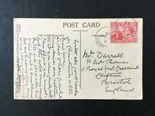 TRINIDAD AND TOBAGO 1923  POSTCARD POINT BALEINE POSTED TO ENGLAND