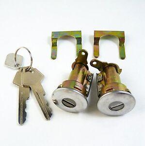 Lockcraft Door Lock Cylinder PAIR For DODGE Caravan Dynasty CHRYSLER Plymouth
