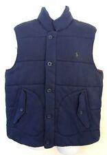 Men Polo Ralph Lauren Pony Jacket Quilted Flannel Ski Coat Button Down Vest XL