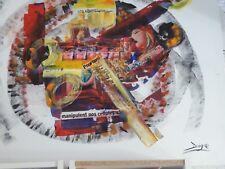 Peinture à l'huile sur toile coton, art brut , signée Daigre à droite.