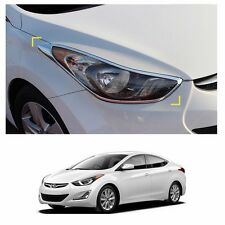 Head Lamp Garnish Molding Trim Chrome for Hyundai Elantra 2011-2016