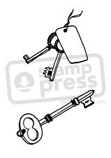 A7 'Fancy Key' Unmounted Rubber Stamp (SP00007077)