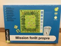 Nathan Our Mission: Cleaning the Forest Game Board NEW & Sealed