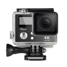 4K Wifi Sports Action Camera With Double Screen Sensor 100 Ft Waterproof 170° Wi