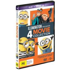 BRAND NEW Despicable Me 1 + 2 + 3 + Minions (DVD, 2017, 4-Disc Set) *PREORDER R4