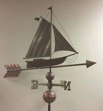 Beautiful custom 52' Long Heavy Duty Ship On Arrow Copper Weathervane & Parts