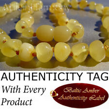 RARE BUTTERSCOTCH Baltic Amber BABY CHILD Necklace AGbA® Certified