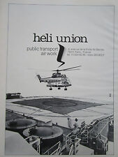 5/1982 PUB HELICOPTERE PUMA HELI UNION PUBLIC TRANSPORT AIR WORK OFFSHORE AD