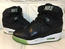 Ladies Nike Revolution Sky Hi Loverution Black Green Hi Top Trainer Wedges 5