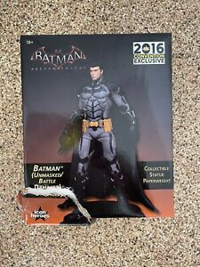 SDCC DC Comics Exclusive Batman Arkham Knight Batman Unmasked Bruce Wayne Statue