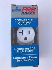 (A) Leviton 5801-WSP Pro Grade Commerical Grounding Outlet, 20A (QTY 79)