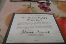 FRANKLIN MINT 1913 FORD MODEL T PICKUP  TITLE ONLY FREE SHIPING LOT1 0 1 01885