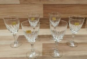 6 x Vintage luminarc Flamenco 18cl  Wine Glasses - Made in France