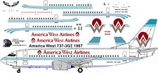 America West Boeing 737-300 decals for Minicraft 1/144 kit