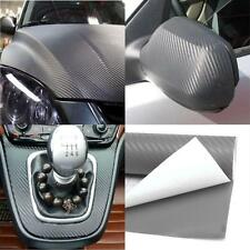 3D Carbon Fiber Vinyl Car Vehicle Wrap Sheet Roll Film Sticker Decal Gray