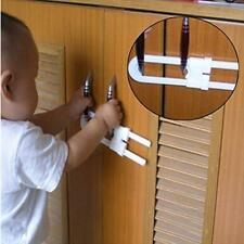 Child Baby Door Cabinet U Shaped Lock Cupboard Drawer Safety Lock NEW - FI