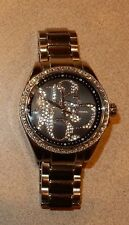 FOSSIL ES1948  Women Round rhinestone DIAL WATCH NEEDS A BATTERY