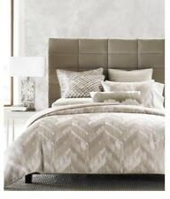Hotel Collection Bedding Distressed Chevron King Duvet Cover Gold I3306
