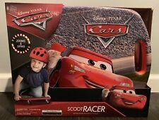 Disney Pixar Cars Lightning McQueen Scoot Racer Caster Board Zooms Spins * New