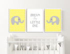 Yellow and Grey Elephant Nursery Art / Prints / Pictures / Decor Boy Girl (MD2)