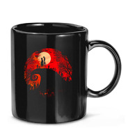 Sunset The Nightmare Before Christmas cartoon stop-motion movie Coffee Mug