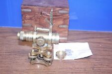 Stanley London Brass Road Level With compass & Telescope / Miniature and rare .