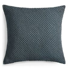 Vera Wang Bedding Corrugated Texture Cotton Euro Pillow Sham Grey $195 F1296