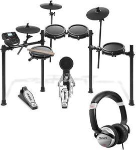 Alesis Nitro Mesh 8 Piece Electronic Drum Kit with Sticks + Numark Headphones