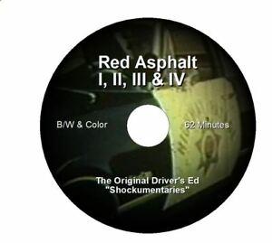 RED ASPHALT 1,2,3 & 4- Original CHP Driver's Education/Driver's Ed Films-NEW