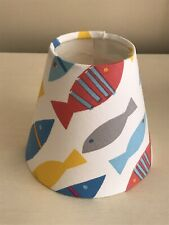 Hand Made Fish Print Candle Clip Lampshade.