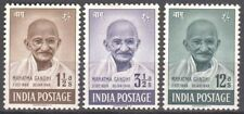 INDIA 1948 FIRST GANDHI MINT STAMPS 3V SET MLH WHITE GUM VERY RARE Cat  2350/-