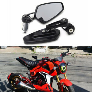 "Motorcycle 7/8"" Handle Bar End Mirrors For Honda Grom 125 msx Kawasaki z125 pro"