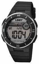 Limit Unisex Zwarte Band Digitale Wijzerplaat 5556.24 Horloge