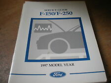 1997 FORD F150 F250 F350 SERVICE GUIDE OWNERS MANUAL SUPPLEMENT BOOKLET ORIGINAL