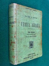Adriano ADUCCO - CHIMICA AGRARIA Manuali pratici , Ed Hoepli (1912)